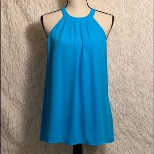 CECE sheer Baby Blue Blouse Size S